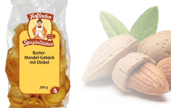Dinkel Butter-Mandel Gebäck 200g