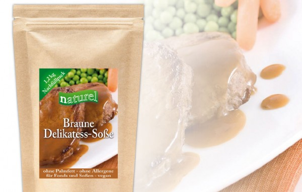 Braune Delikatess Soße 1,2 kg Nachfüllbeutel