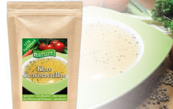 Klare Gemüsebouillon 1,5 kg Nachfüllbeutel
