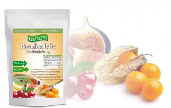 Paradies-Mix Fruchtmischung 200g