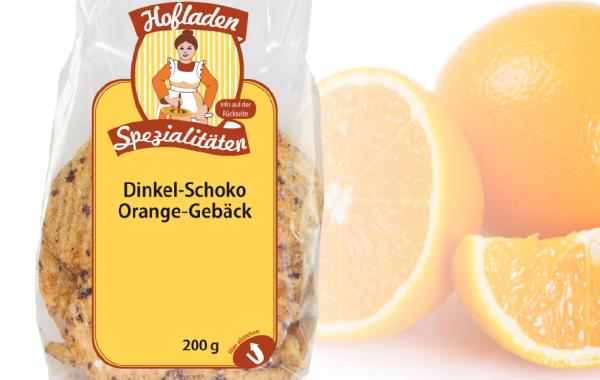 Dinkel Schoko Orangen Gebäck 200g